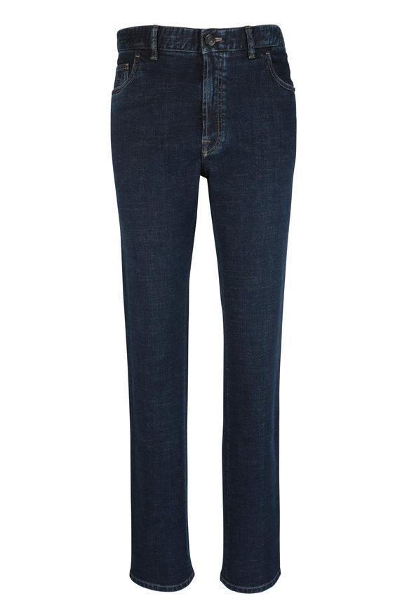 Brioni Dark Blue Stretch Straight Fit Jean