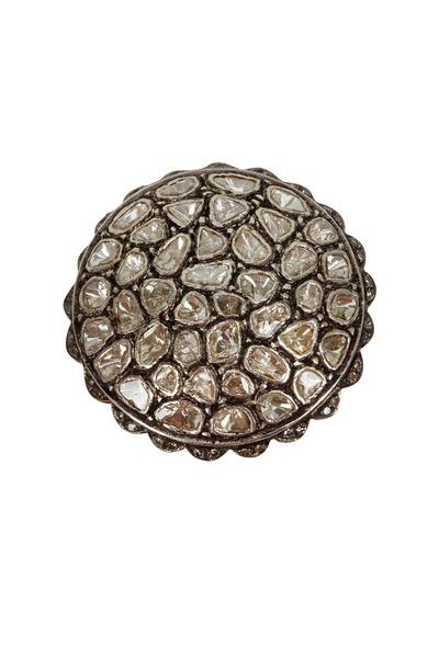 Loren Jewels - Gold & Silver Rose-Cut White Diamond Ring