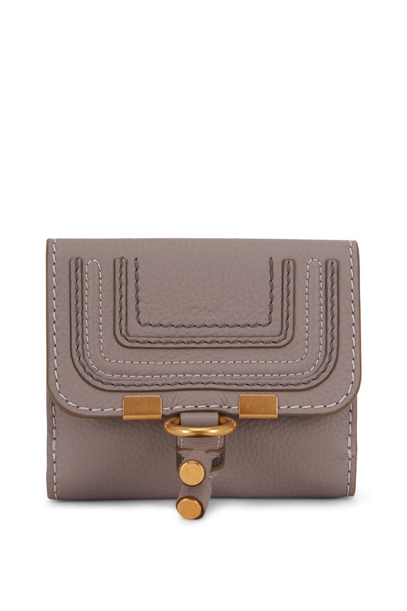 Chloé Marcie Cashmere Gray Leather Small Wallet