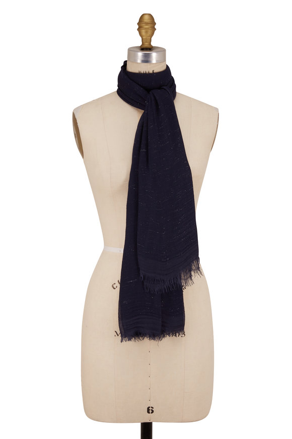 Faliero Sarti Midnight Diamantina Lurex Scarf