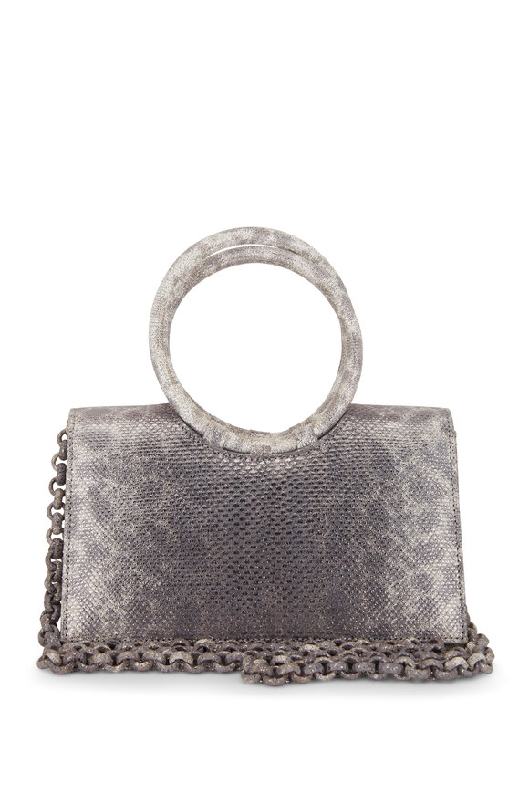 Nancy Gonzalez Regina Rose Gold Crocodile & Karung Small Bag