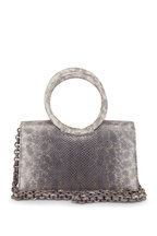 Nancy Gonzalez - Regina Rose Gold Crocodile & Karung Small Bag