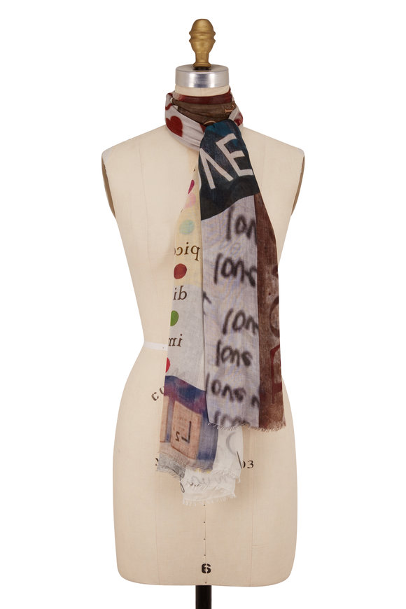 Faliero Sarti Ensemble Multicolor Printed Scarf
