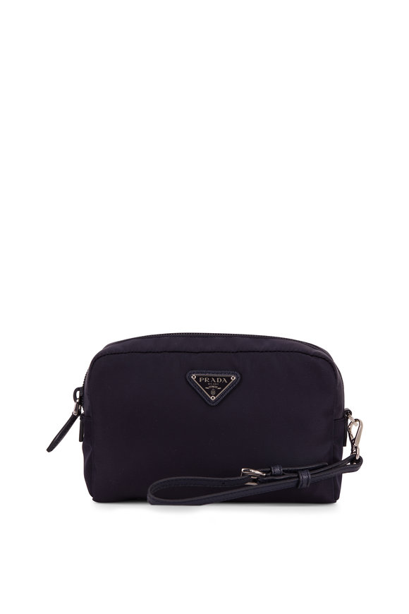 Prada Vela Navy Blue Tesutto Cosmetic Bag