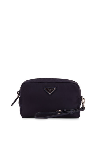 Prada - Vela Navy Blue Tesutto Cosmetic Bag