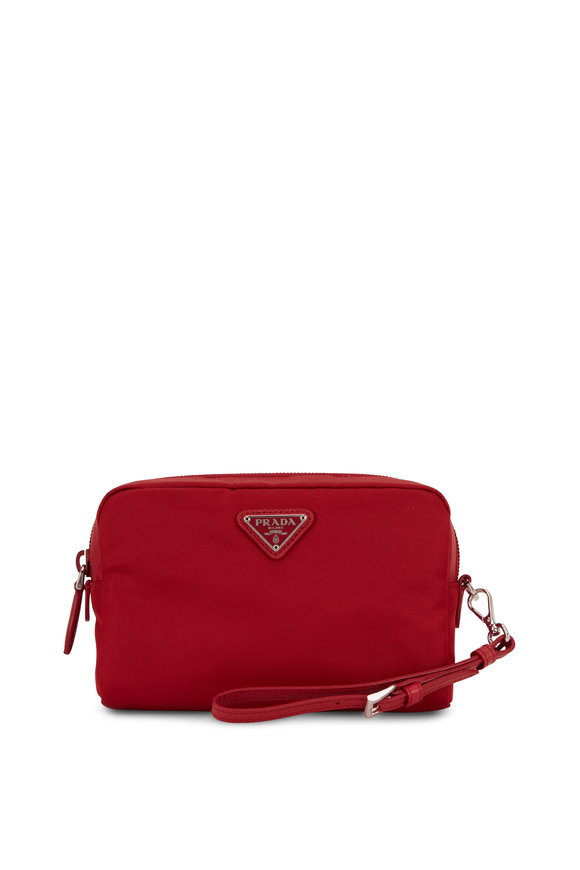 Prada Vela Dark Red Tesutto Cosmetic Bag