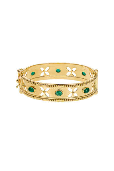 Temple St. Clair - 18K Gold Emerald Cut-Out Bracelet
