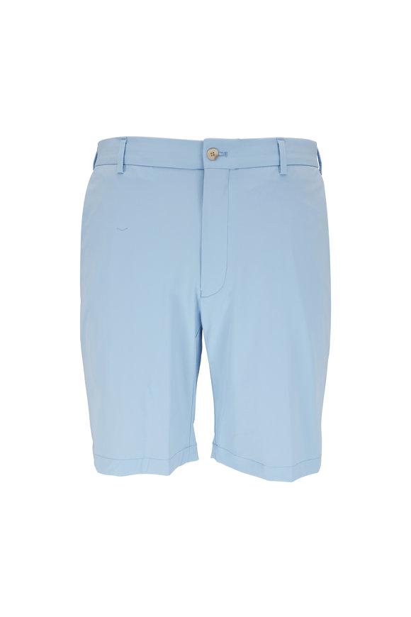 Peter Millar Waterfall Blue Performance Twill Shorts
