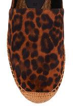 Saint Laurent - Leopard Print Suede Flat Espadrille