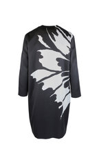 Kiton - Black & White Silk Blend Floral Print Jacket