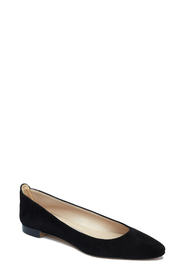Lee Black Suede Ballet Flat
