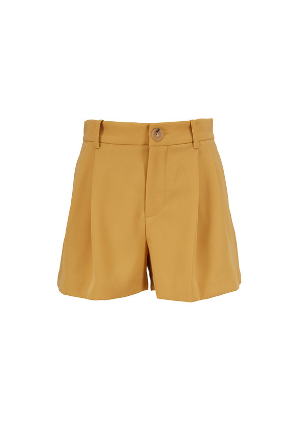 Vince Yellow High-Rise Shorts