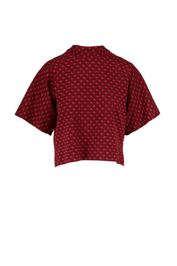Rosetta Getty Red Triangle Jacquard T-Shirt