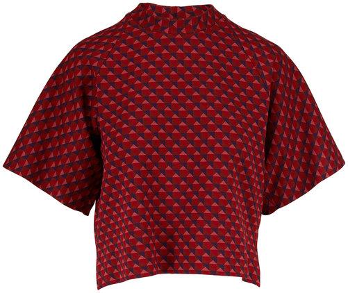 Rosetta Getty Red Triangle Jacquard T-Shirt