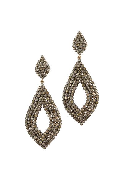 Loren Jewels - Gold & Silver Diamond Earrings