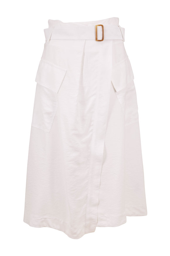 Vince Off White Belted Utility Skirt