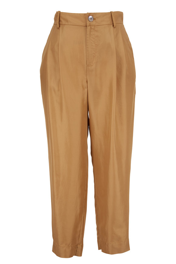 Vince Sand Silk Cropped Pant