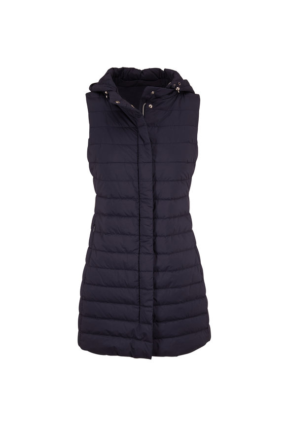 Herno Navy Hooded Down Vest