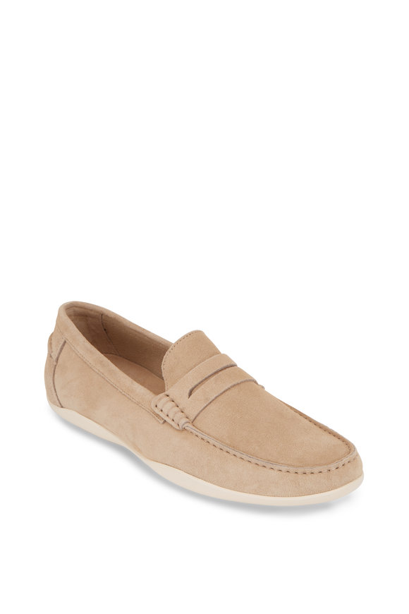 Harrys of London Basel Kudu Sand Suede Loafer