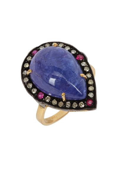 Loren Jewels - Diamond/Tanzanite/Ruby Ring