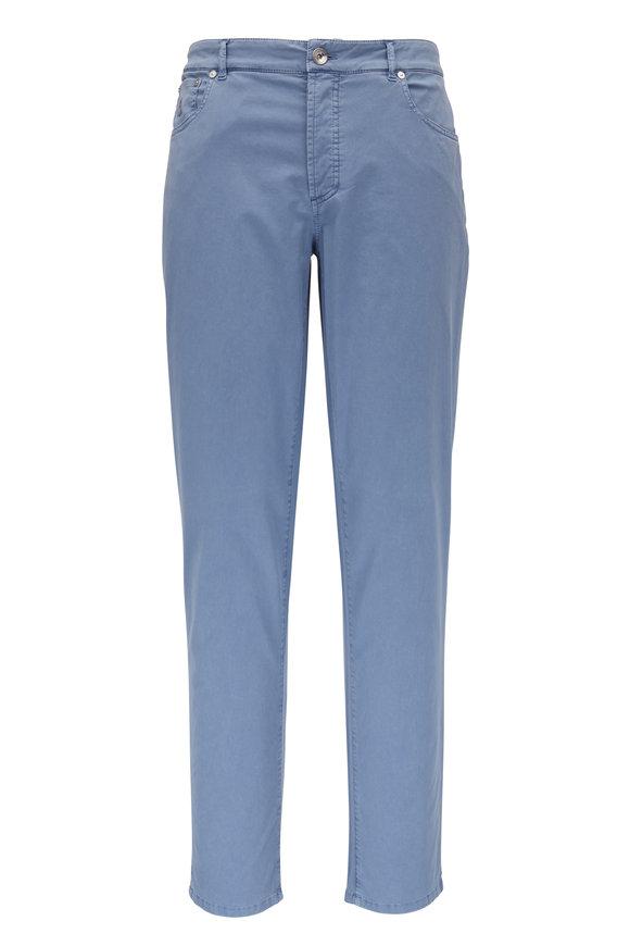 Brunello Cucinelli Light Blue Five Pocket Italian Fit Jean