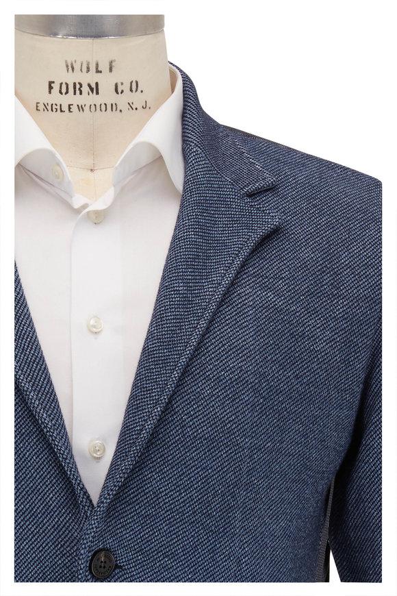 Maurizio Baldassari Blue Melange Knit Jacket