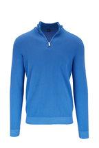 Fedeli - Favonio Royal Blue Quarter-Zip Pullover