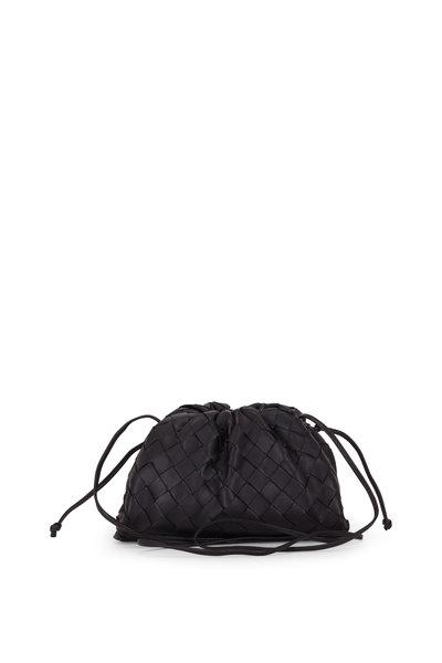 Bottega Veneta - Black Interciatto Pouch Small Crossbody