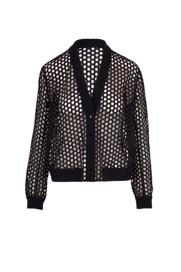Akris Punto Night Sky Mesh Snap Cardigan