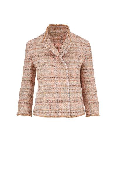 Akris Punto - Cream & Tangerine Lurex Tweed Jacket