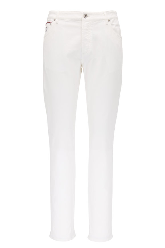 Brunello Cucinelli White Five Pocket Skinny Fit Jean
