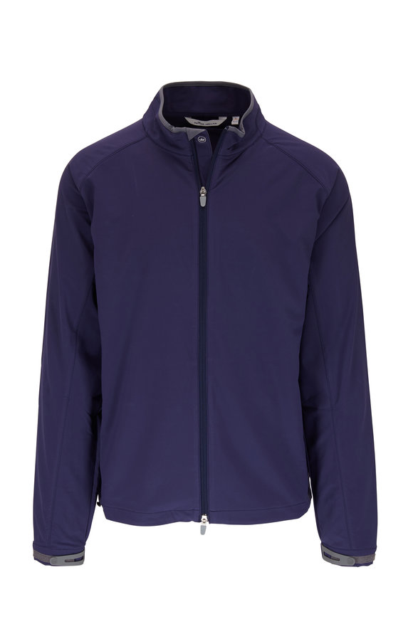 Peter Millar Navy Zephyr Stretch Front Zip Jacket