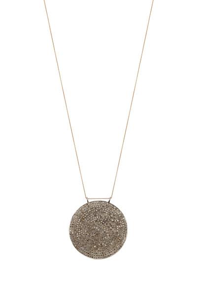 Tulah Jem - Rose Gold White Diamond Circle Pendant