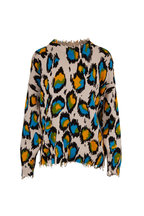R13 - Multicolor Leopard Distressed Oversize Sweater