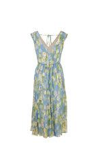 Carolina Herrera - Multicolor Printed Silk Sleeveless Midi Dress