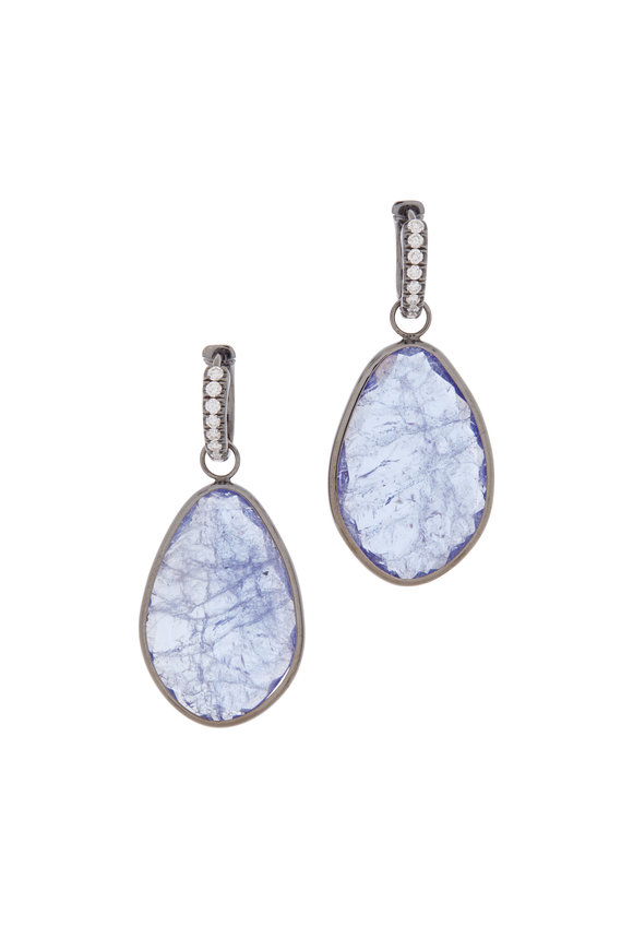 Katherine Jetter 18K White Gold Tanzanite Slice Earrings