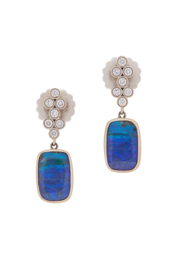 Katherine Jetter 18K White Gold Classic Opal Drop Earrings