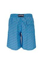 Vilebrequin - Okoa Light Blue Mini Turtles Printed Swim Trunks