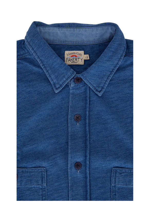Faherty Brand Medium Indigo Season Sport Shirt