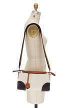 Fendi - By The Way White Pequin Canvas Satchel Bag