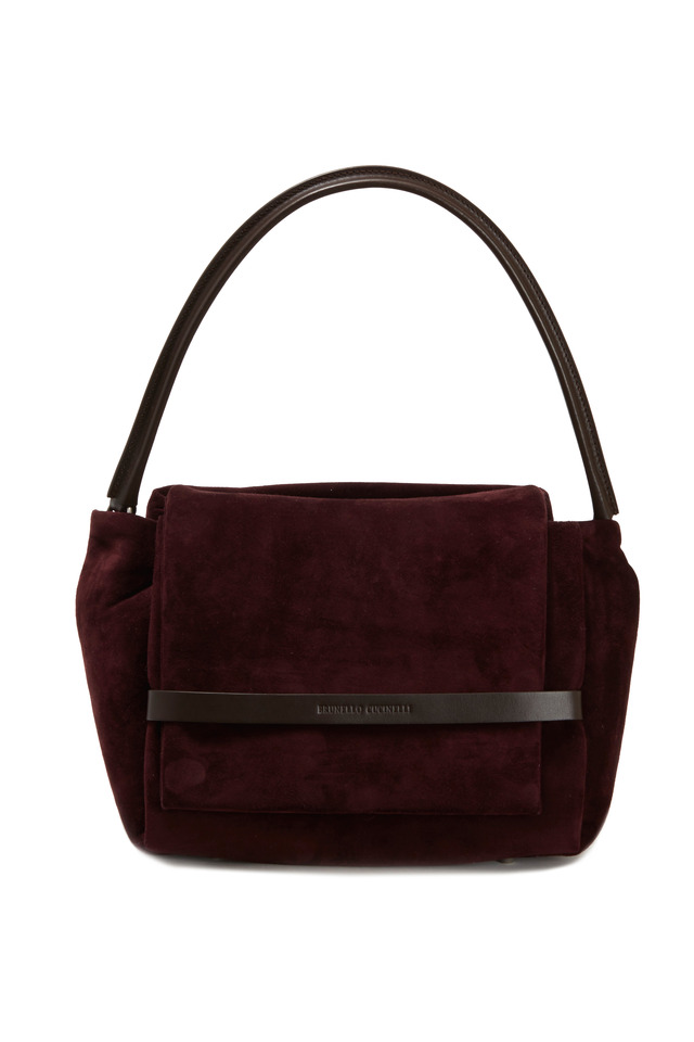 Suede Flap Shoulder Bag