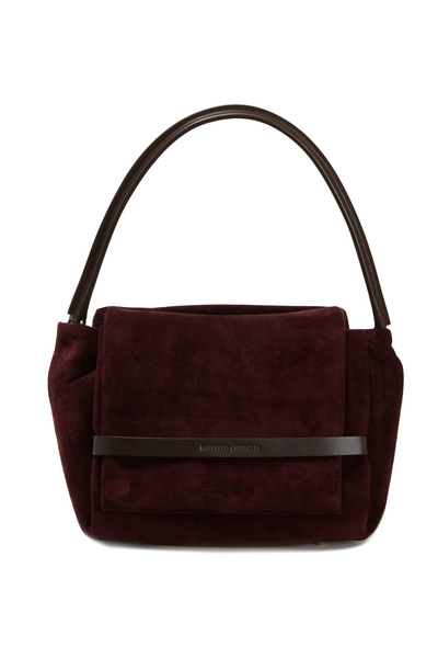 Brunello Cucinelli - Suede Flap Shoulder Bag