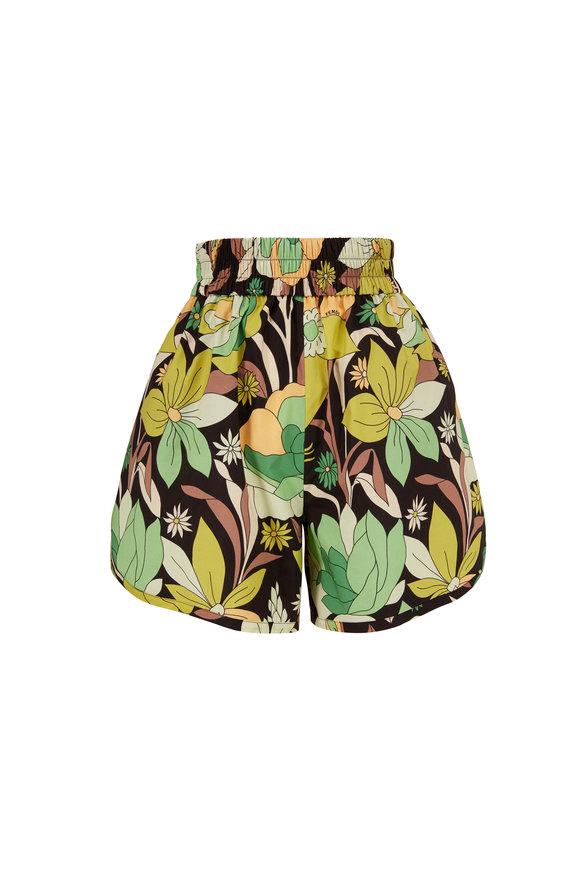 Fendi Multicolor Dream Garden Print Shorts