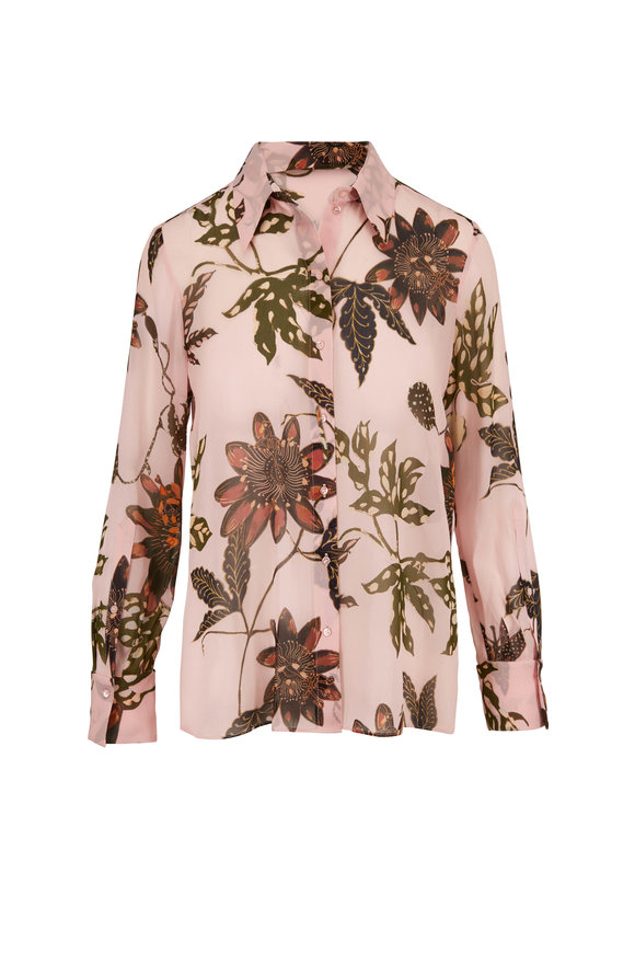 Dorothee Schumacher Floral Transparencies Blush Pink Blouse