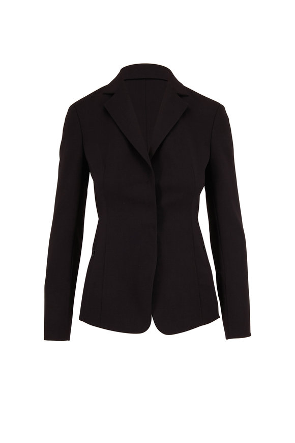 Akris Savino Black Double-Faced Wool Jacket