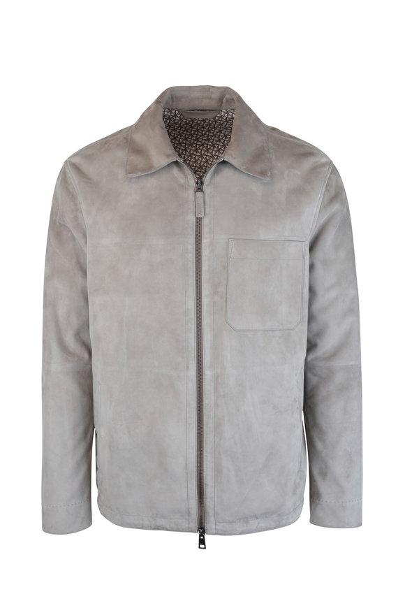 Brioni Tan Suede Patch-Pocket Jacket