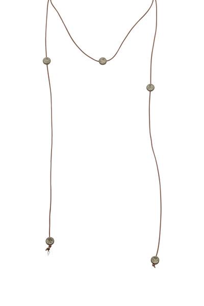 Tulah Jem - Diamond Bead Larait Necklace