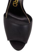 Tom Ford - Padlock Black Leather Double-Strap Sandal, 105mm