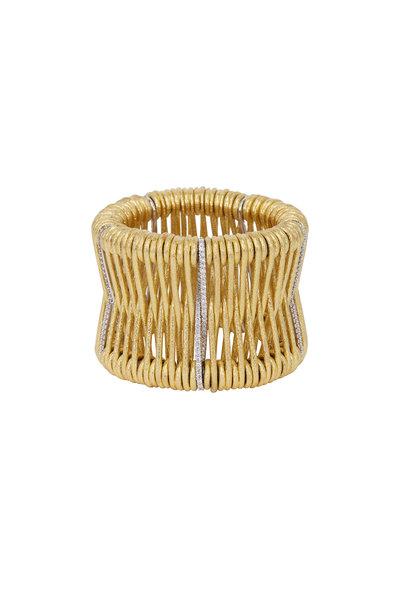 Kathleen Dughi - Yellow Gold Diamond Cuff Bracelet