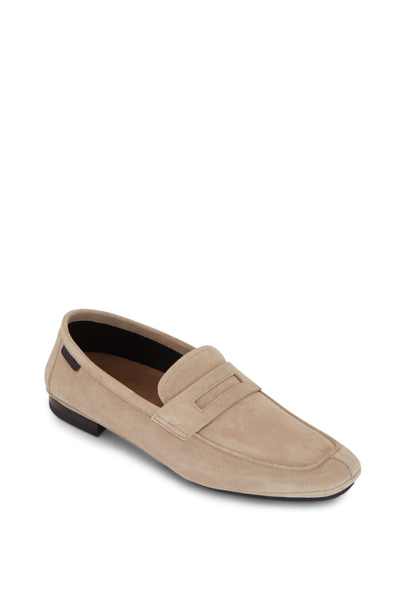 Tom Ford Berwick Taupe Suede Soft Loafer